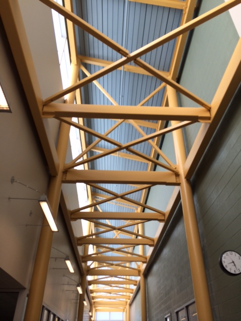 Nearly every space in the school is generously bathed in natural ligth